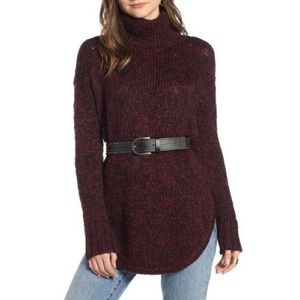 Treasure & Bond Burgundy Field Combo Sweater Small